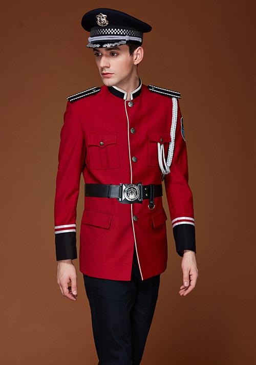 航空红色制服