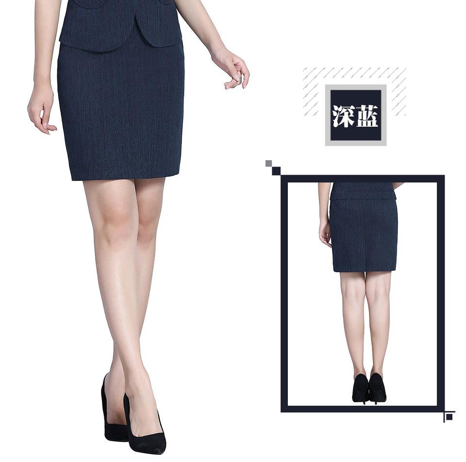 灰色职业商务套装灰色女裙
