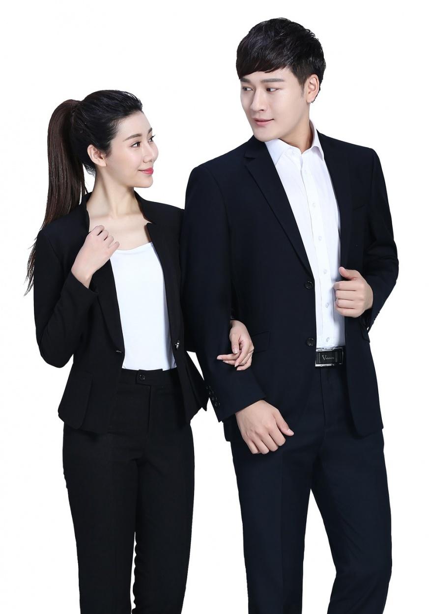 修身黑色时尚职业套装FX07