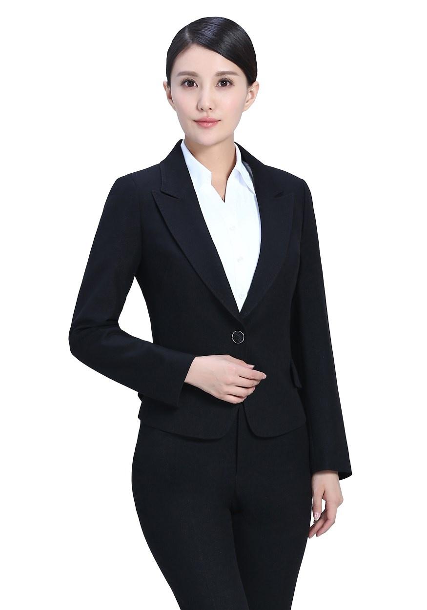 黑色商务女士职业套装