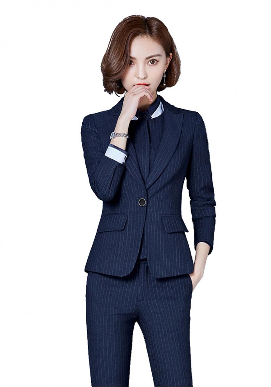 新款蓝色女士商务西装